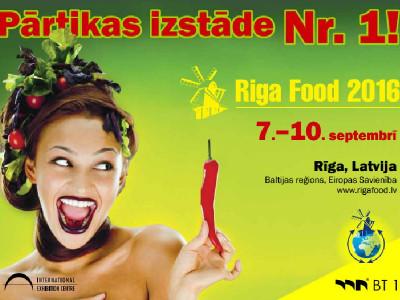 Šogad piedalāmies Riga Food 2016 izstādē no 7. - 10. septembrim